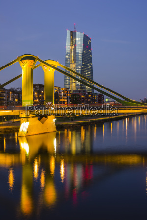germany hesse frankfurt main river and