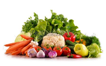 roznorodnosc swiezych organicznych warzyw samodzielnie na