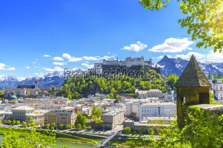 miasto grod town alpy austria starowka