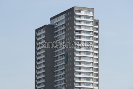facade of a modern residential building