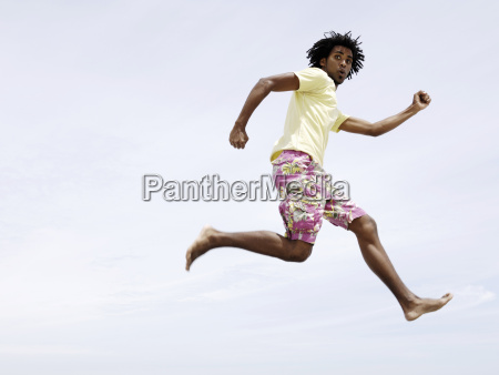 low angle view of african man
