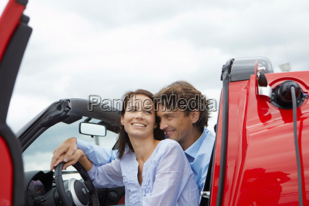 couple close together in an electric