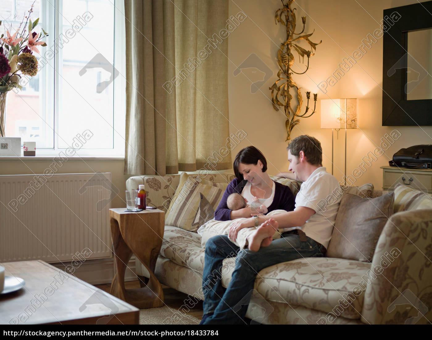 para, i, nowe, dziecko, siedzi, na - 18433784