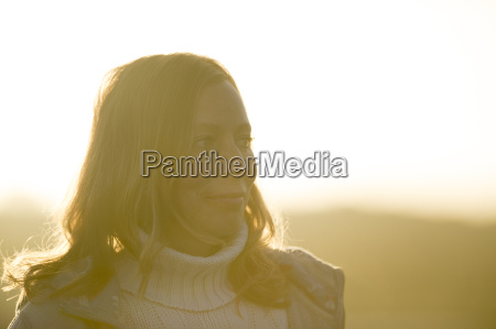 portrait of mid adult woman at