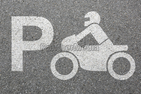 parking motocykl parking motocyklista