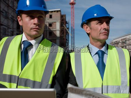 engineers on building site