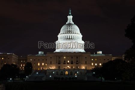 united states capitol at night washington
