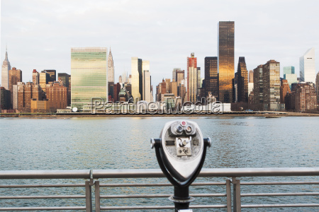 view of tourist binoculars toward east
