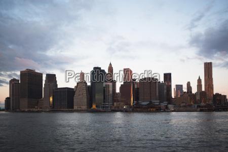 manhattan skyline new york usa