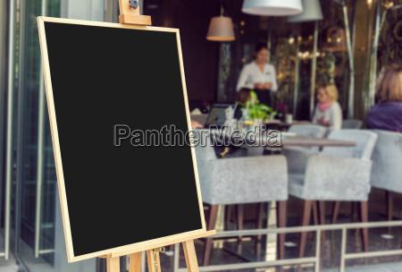 kawiarnia restauracja knajpa panel wyswietlacza sklepy