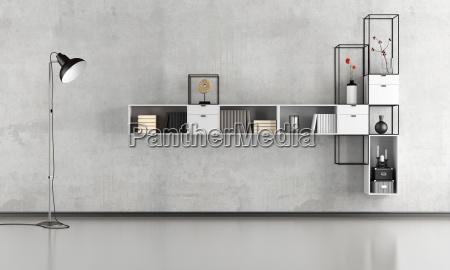 czarno bialy minimalistyczny salon