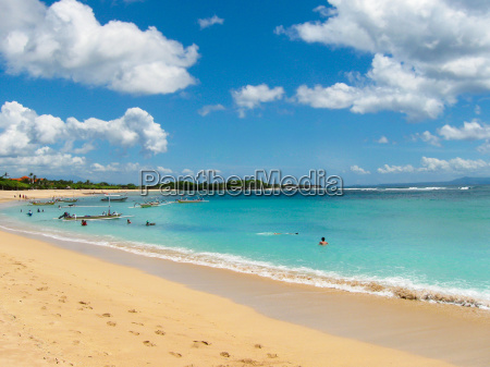 beautiful white sand beach surrounded by