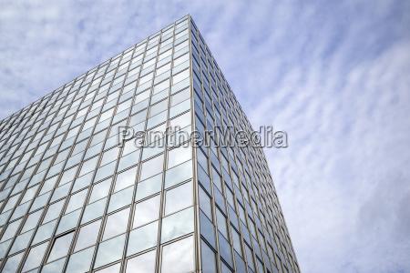 abstract facade of a modern residential