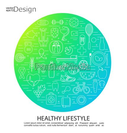 symbole zdrowego stylu zycia