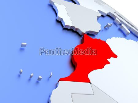 maroko, na, mapie, świata - 19129319