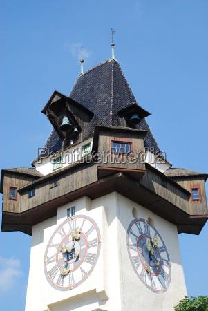 landeshauptstadt graz clock tower turm grazer