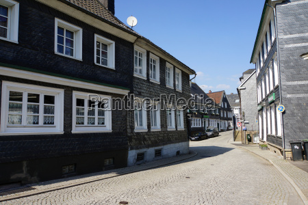 typical houses of the bergisch land