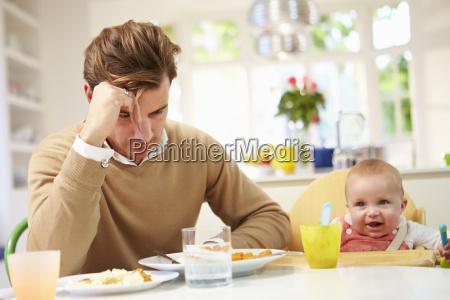 ojciec uczucie depresji w posilku dziecka