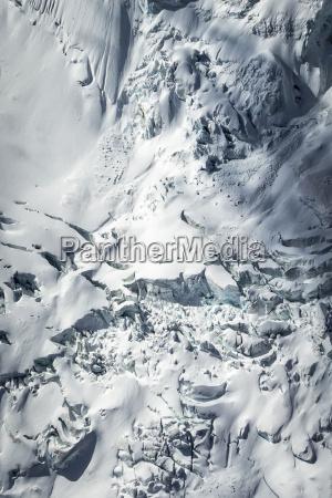 vista aerea da geleira da montagem