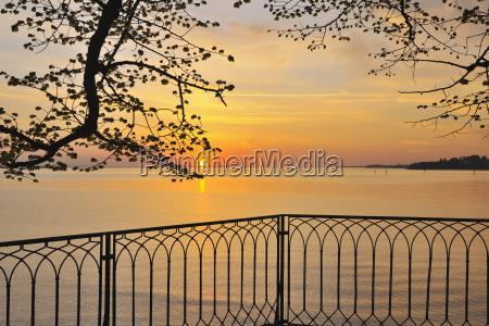 sunset over lake constance lindau baden