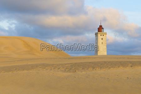 sand dune with rubjerg knude lighthouse