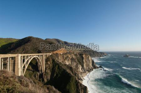 jazda podrozowanie pomost poziome poziomo kalifornia