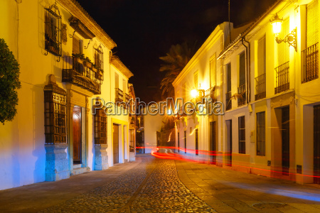 night street in old town of