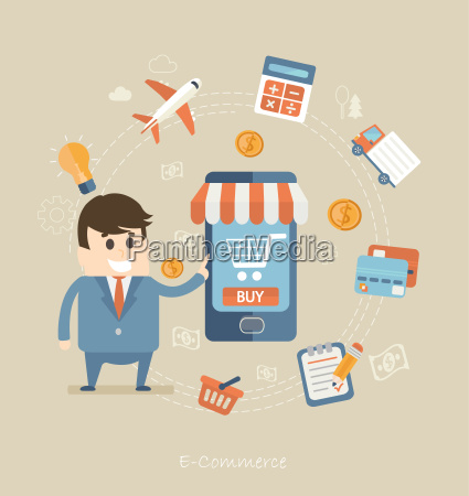 koncepcja plaskiego wzornictwa e commerce