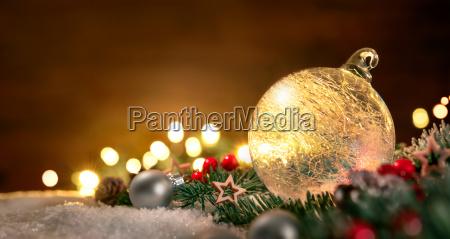 transparent christmas ball and christmas decoration