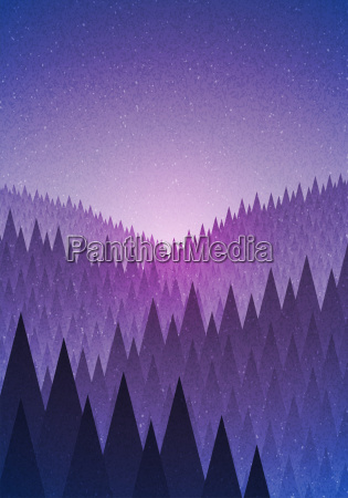 niebieski drzewo gora anhoehe wzgorze gory