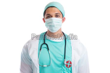 mlody lekarz lekarz ochrona jamy ustnej