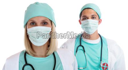 mlodzi lekarze team doktor doktor portret