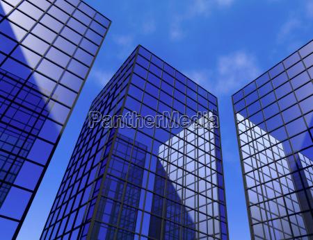 office skyscraper buildings window glass mirror