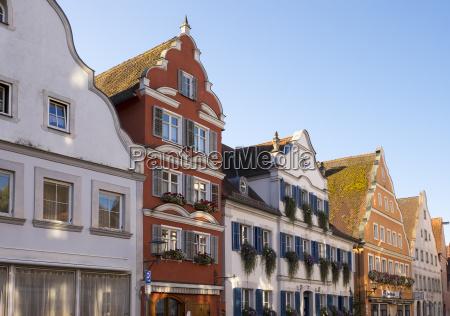 niemcy oettingen widok na barokowy rzedzie