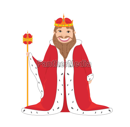 king isolated vector drawing