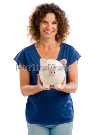 kobieta womane baba lawka bank portret