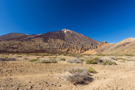 pico del teide mountain with volcanic