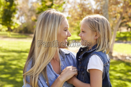 blonde woman and her young daughter