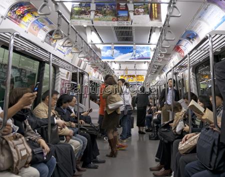 tokyo metro spacious carriages when not