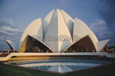 bahai lotus flower temple zbudowany w