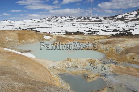 obszar, termiczny, leirhnjukur, i, erupcja, w, pobliżu - 20666843