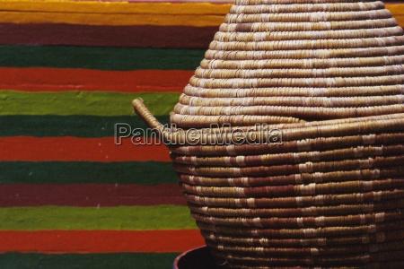 tkane wyroby koszykarskie miska maroko afryka