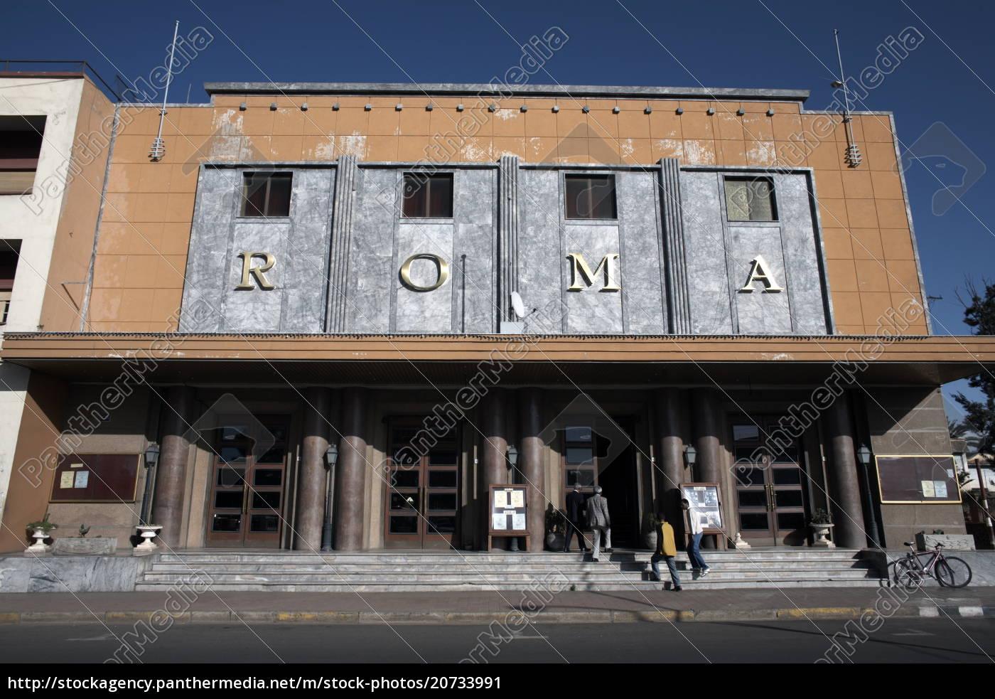 kino, roma, przykład, architektury, włoskiej, asmara, erytrea, afryka - 20733991