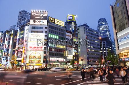 night lights in shinjuku tokyo japan