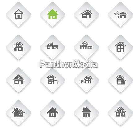 zestaw ikon typu dom