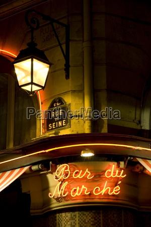 bar du march znak rue de