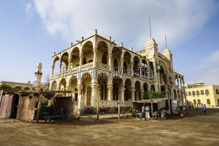 destroyed former banco ditalia in the