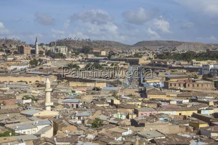 view over capital city of asmara