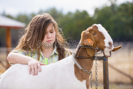 usa texas young girl with boer