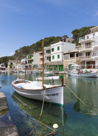 spain majorca bay with fishing boats